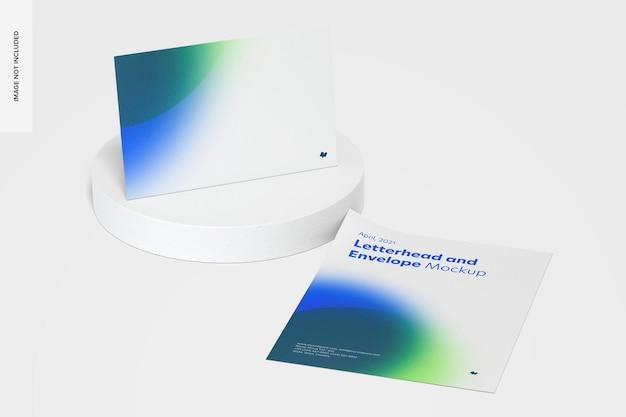 Modelo de papel timbrado e envelope
