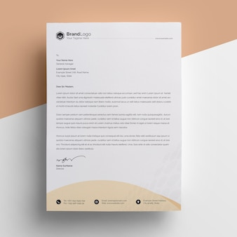 Modelo de papel timbrado - negócio criativo