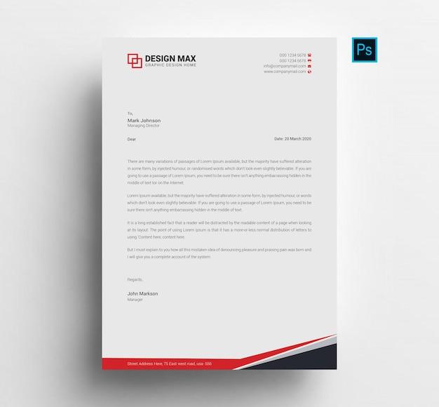 Modelo de papel timbrado profissional para negócios