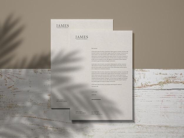 Modelo de papel timbrado
