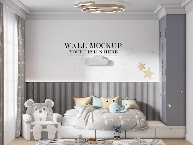 Modelo de parede de quarto infantil elegante para suas texturas
