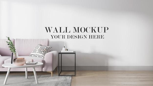 Modelo de parede em cena de renderização 3d