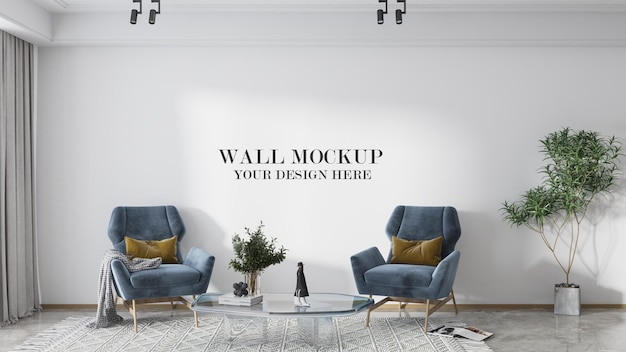 Modelo de parede grande para suas texturas
