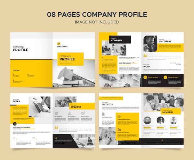 Modelo de perfil de empresa corporativa