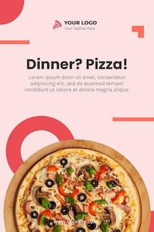 Modelo de pizza banner psd