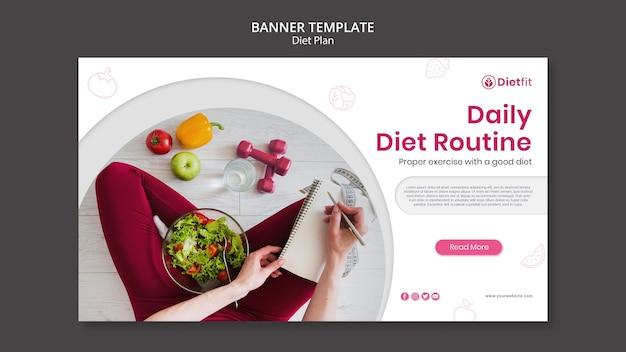 Modelo de plano de dieta de banner