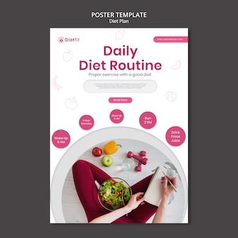 Modelo de plano de dieta de pôster