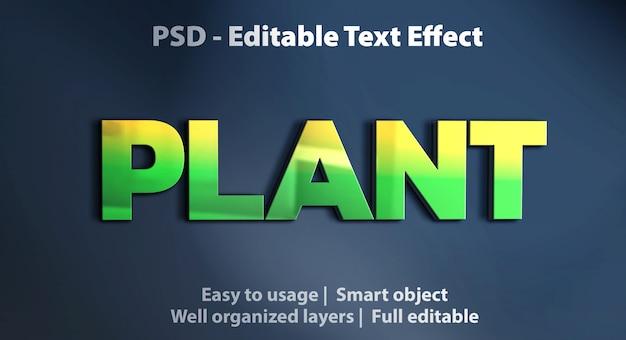 Modelo de planta de efeito de texto