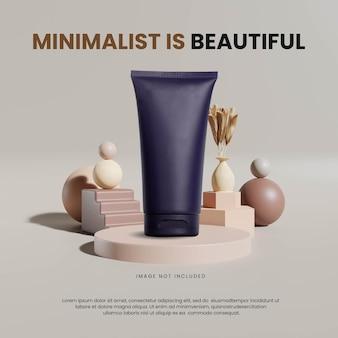 Modelo de pódio geométrico minimalista abstrato