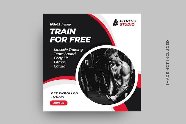Modelo de pós-banner de mídia social de fitness
