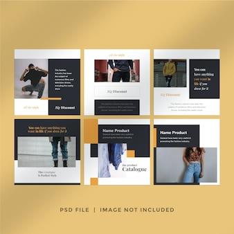 Modelo de pós-coleção para venda de moda no instagram