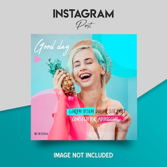 Modelo de post do instagram