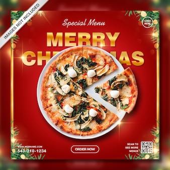Modelo de post instagram criativo de promoção de comida de natal especial