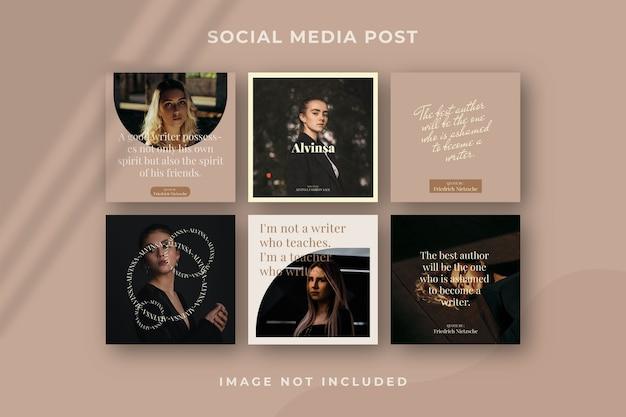 Modelo de post instagram de mídia social quadrada