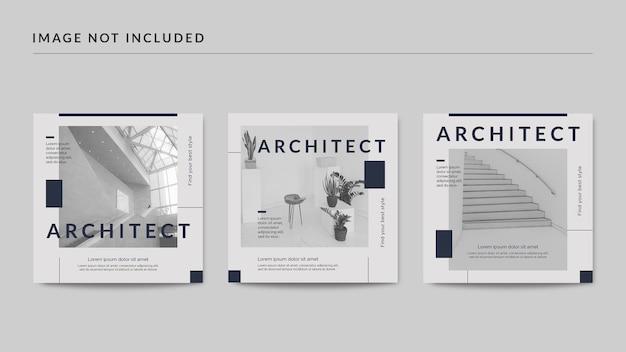 Modelo de postagem de arquiteto em mídia social