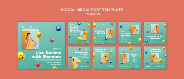 Modelo de postagem de avaliação ao vivo em mídia social