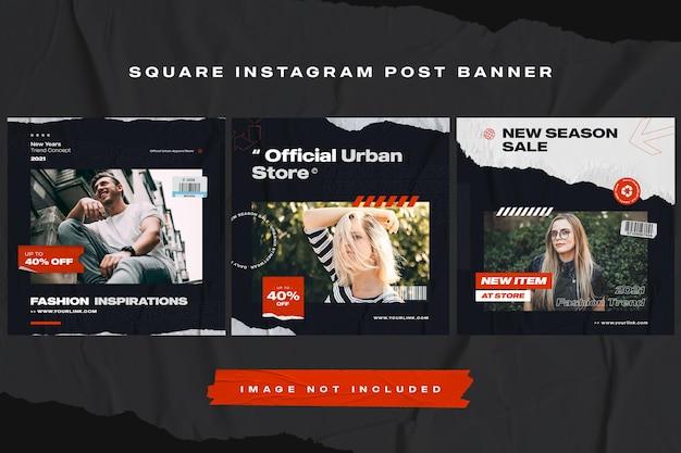 Modelo de postagem de banner de mídia social de móveis