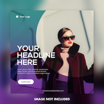 Modelo de postagem de banner de moda