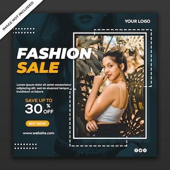 Modelo de postagem de coleção de moda em mídias sociais
