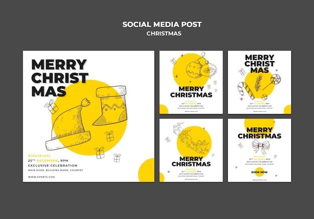 Modelo de postagem de conceito de natal em mídia social