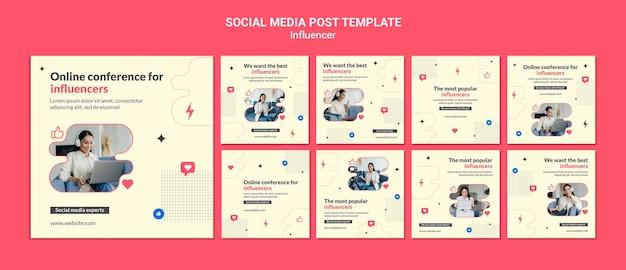 Modelo de postagem de especialista em mídia social
