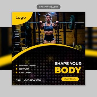 Modelo de postagem de fitness instagram