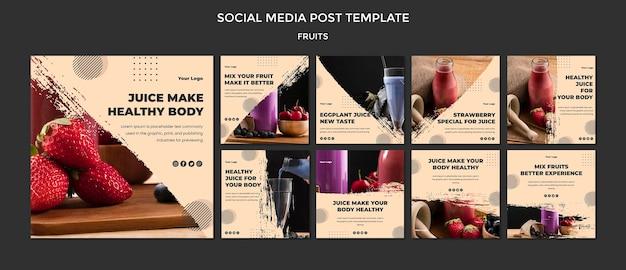 Modelo de postagem de frutas nas redes sociais