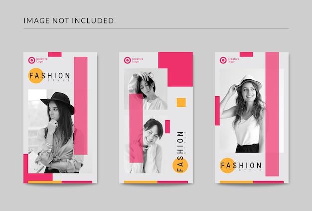 Modelo de postagem de histórias de moda em mídia social