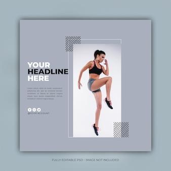 Modelo de postagem de instagram de fitness