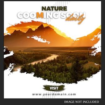 Modelo de postagem de instagram de natureza