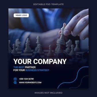 Modelo de postagem de instagram de negócios