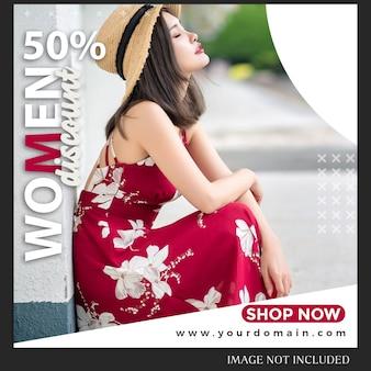 Modelo de postagem de instagram de venda