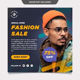 Modelo de postagem de marketing em mídia social de venda de moda