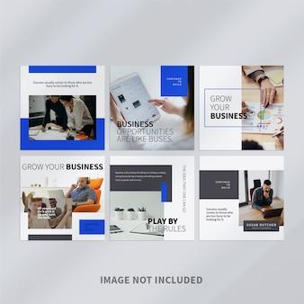 Modelo de postagem de mídia social corporativa no instagram