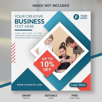 Modelo de postagem de mídia social corporativa