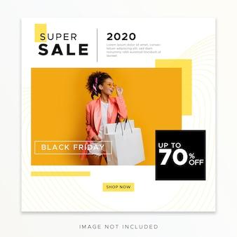 Modelo de postagem de mídia social da black friday