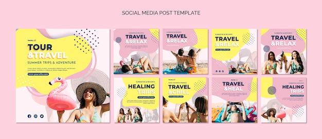 Modelo de postagem de mídia social de feriado