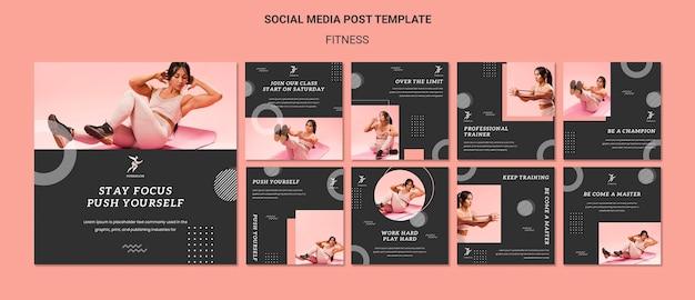 Modelo de postagem de mídia social de fitness