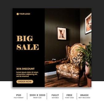Modelo de postagem de mídia social de grande venda