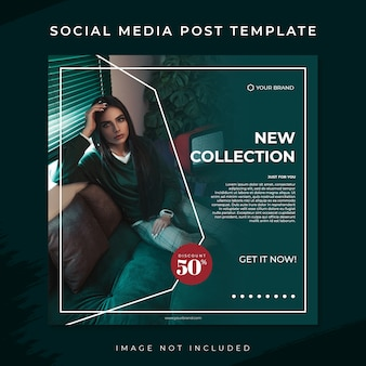 Modelo de postagem de mídia social de venda de moda tosca