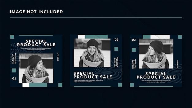Modelo de postagem de mídia social de venda de produto