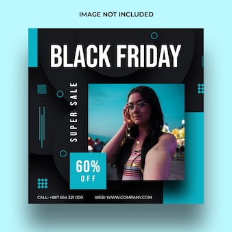 Modelo de postagem de mídia social de venda na sexta-feira negra