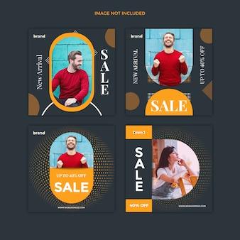 Modelo de postagem de mídia social de venda