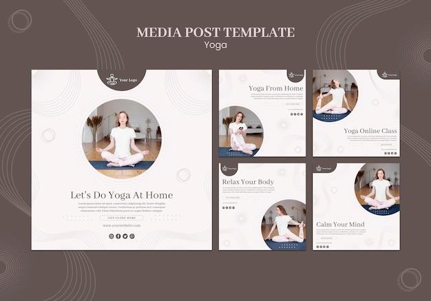 Modelo de postagem de mídia social do conceito de ioga