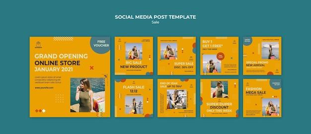 Modelo de postagem de mídia social do conceito de venda Psd Premium