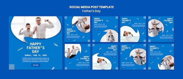 Modelo de postagem de mídia social do dia dos pais