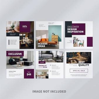 Modelo de postagem de mídia social do furniture no instagram