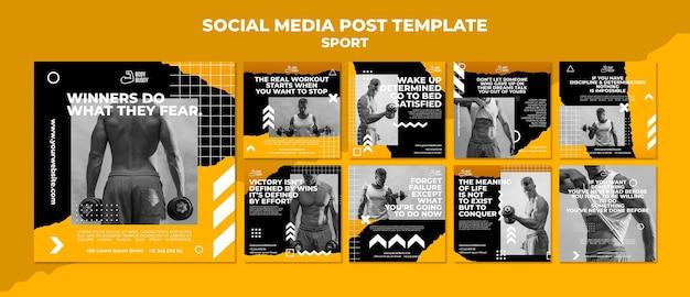 Modelo de postagem de mídia social do processo de treinamento