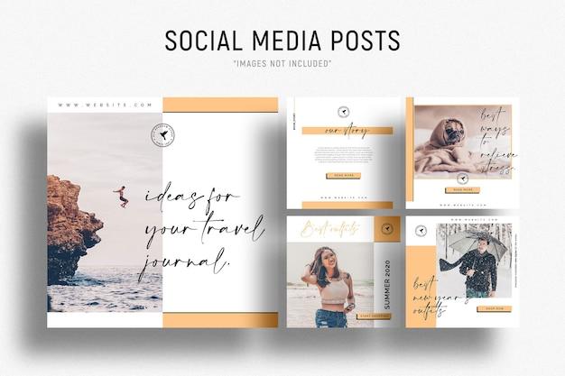 Modelo de postagem de mídia social empresarial