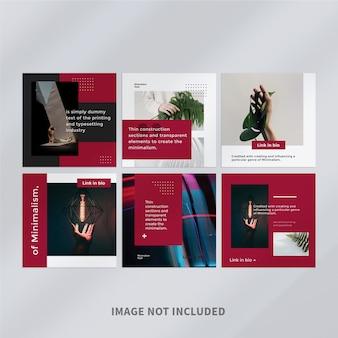 Modelo de postagem de mídia social minimalista no instagram